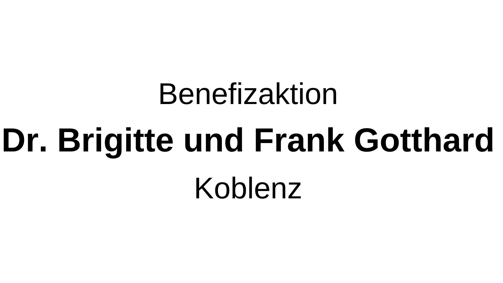 Dr, Brigitte Gotthardt, Koblenz